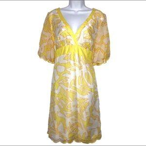 Anthro Tori Richard Silk Blend Empire Dress 12